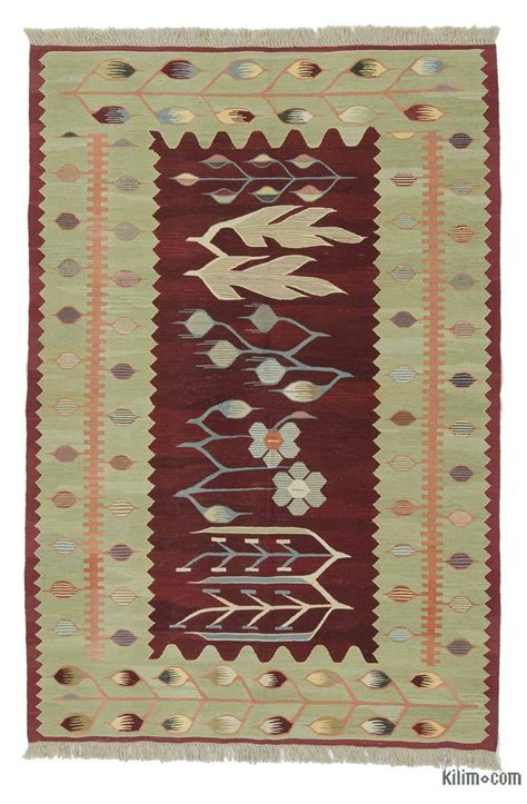 turkish kilim rug k0020798 green new turkish kilim rug