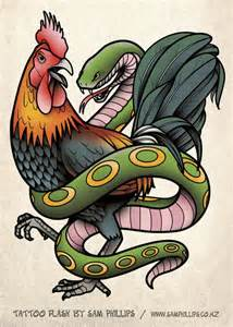 rooster tattoo images designs