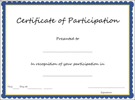 free templates for certificates of participation the 25 best certificate of participation template ideas