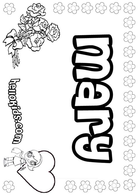 mary coloring pages hellokids com