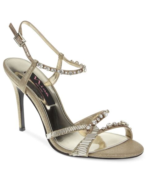 gold evening sandals chimere evening sandals in gold lyst