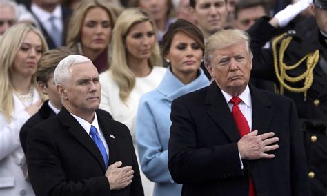 donald trump vice president trump sworn in as 45th us president vows to eradicate