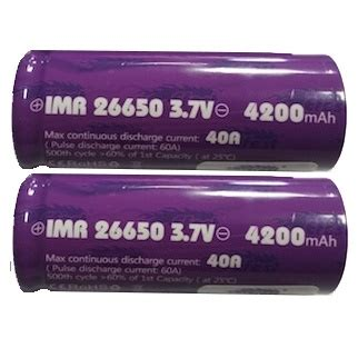 Diskon Efest Imr 26650 Battery 4200mah 3 7v 50a With Flat Top efest purple imr 26650 li mn battery 4200mah 3 7v 40a with flat top 26650 purple