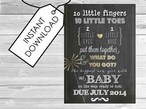 free printable pregnancy announcement templates new years pregnancy announcement printable pregnancy