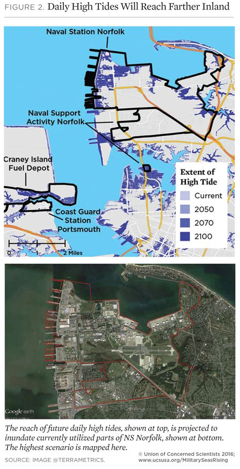 us navy global warming map on the front lines of rising seas naval station norfolk