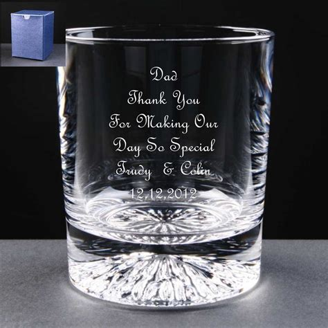 Personalised Whisky Glass,Wedding Gift, Mother / Father of