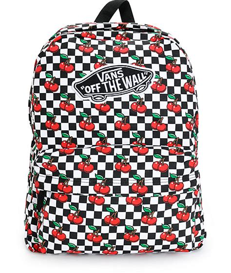 Cherry Backpack by Vans Realm Cherry Checkers Backpack