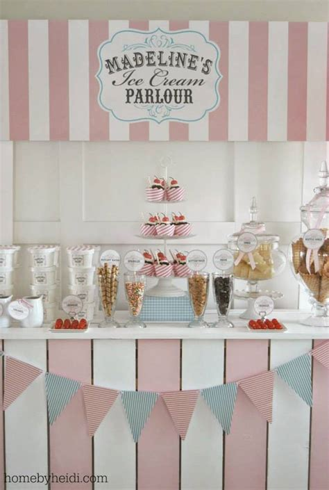 theme names for a birthday party kara s party ideas ice cream parlor themed birthday party