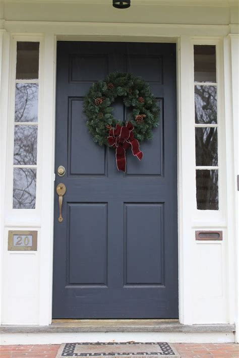 Exterior Doors With Side Panels Navy Front Door With White Side Panels Front Yard Fixes