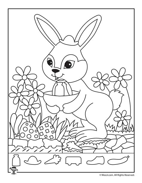 printable hidden pictures for easter easter bunny hidden picture activity page woo jr kids