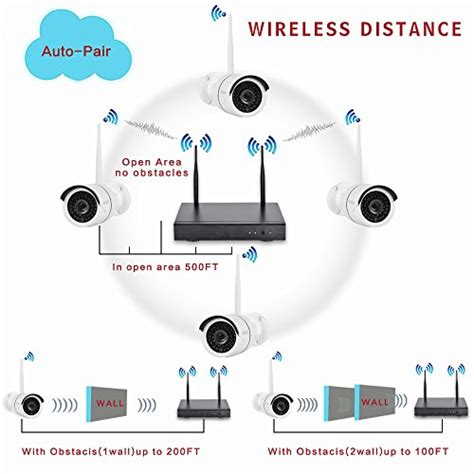 Cctv 8 Channep 960p Wireless yeskam wireless security system 8 channel 960p metal outdoor weatherproof infrared ir led