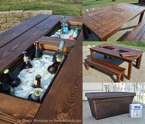 Patio Table Plans Patio Cooler Table Lowes Modern Patio Outdoor