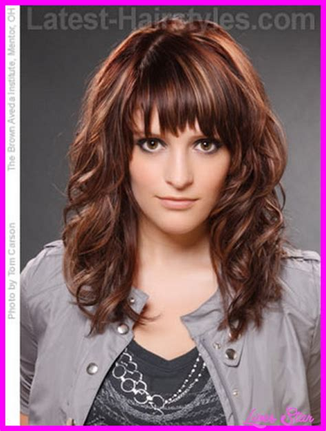 neck length hairstyles with bangs long length haircut with bangs hairstyles fashion