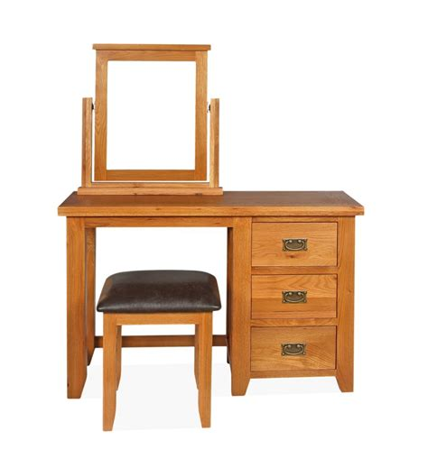 Dressing Table And Stool by Canterbury Single Dressing Table With Stool Mirror Set
