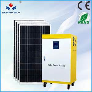 solar air conditional 1kw residential solar power kit home