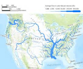 united states map with rivers