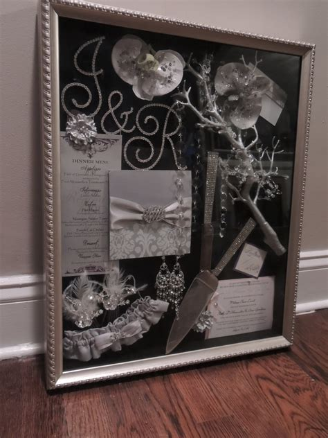 Wedding Invitation Keepsake Shadow Box by Wedding Shadow Box