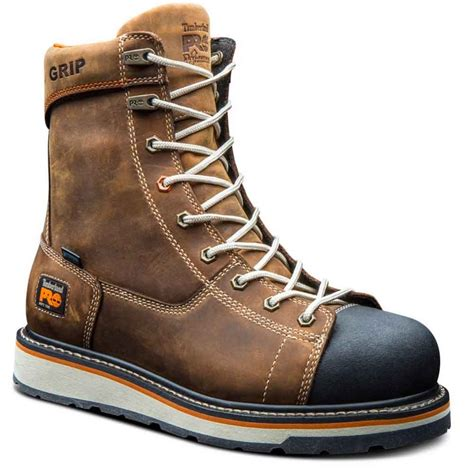 pro timberland work boots timberland pro gridworks brown wp work boot tb0a16t4214