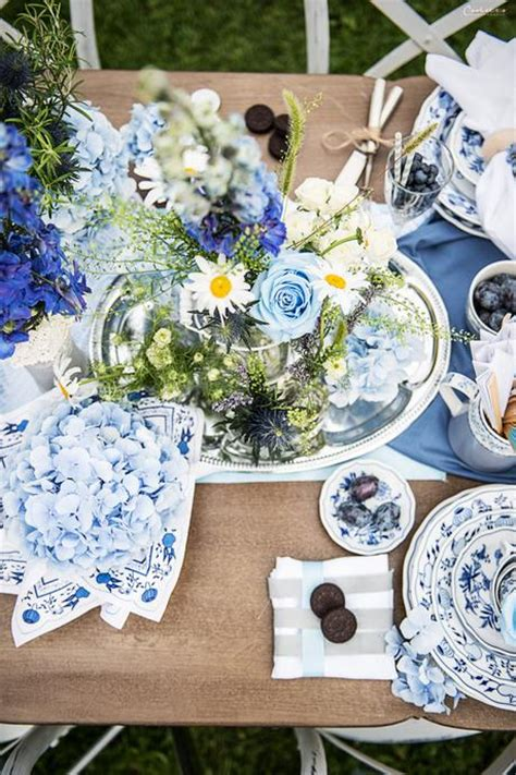 Tischdeko Hochzeit Blau by Blue Moon Tischdeko In Der Farbe Blau