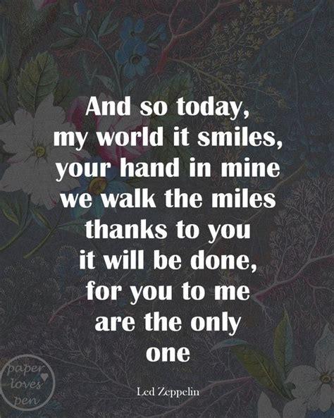 Wedding Song Led Zeppelin by Thank You Lyrics Typography Sun