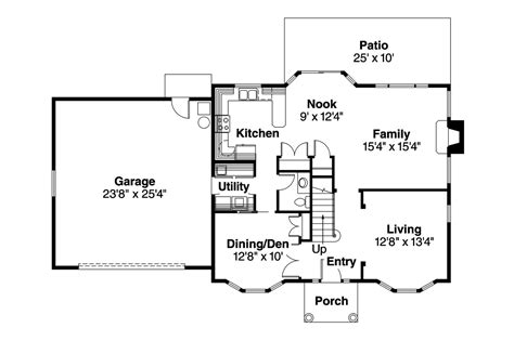 colonial home floor plans colonial house plans ellsworth 30 222 associated designs