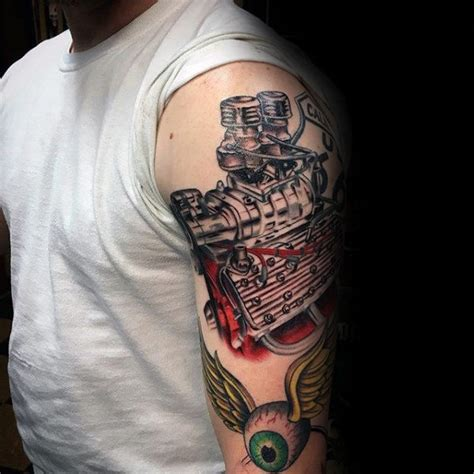 engine tattoo 50 engine tattoos for motor design ideas