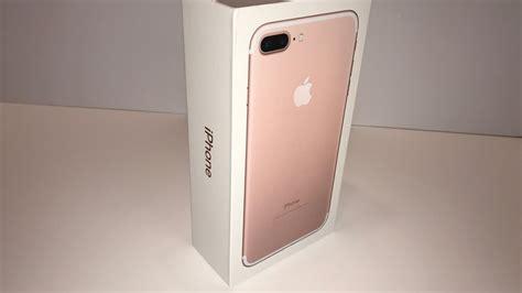 apple iphone 7 plus 128gb gold unboxing