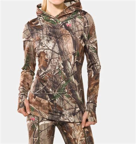 womens realtree camo hoodie sweatshirt women s evo coldgear 174 camouflage hoodie armour us