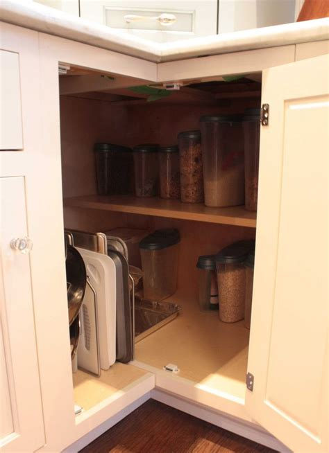 corner cabinet solutions in kitchens corner cupboard storage now this is cool gotta figure out how to take out my lazy
