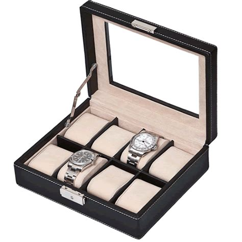 Decorative Display Cases by Black Leather Eight Display With Decorative