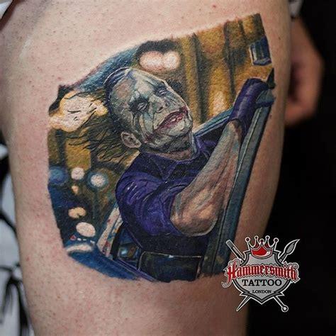 sureno tattoos sureno colour portrait joker batman ham by