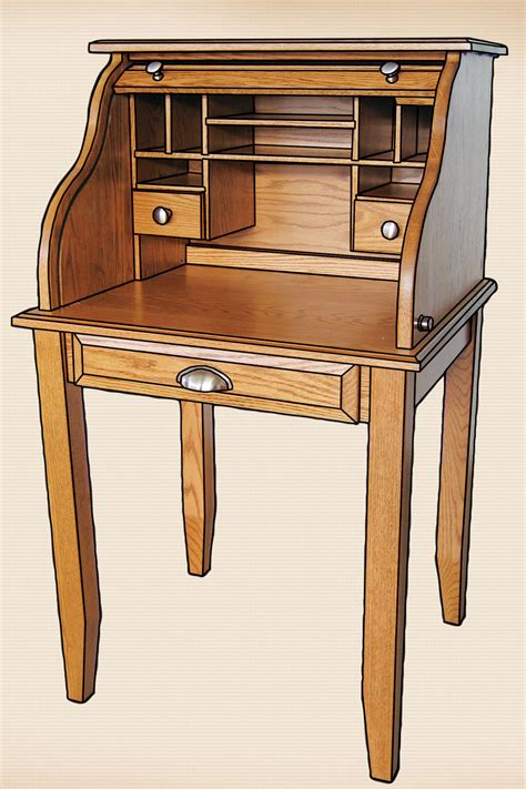 roll top secretary desk oakwood furniture amish furniture in daytona beach