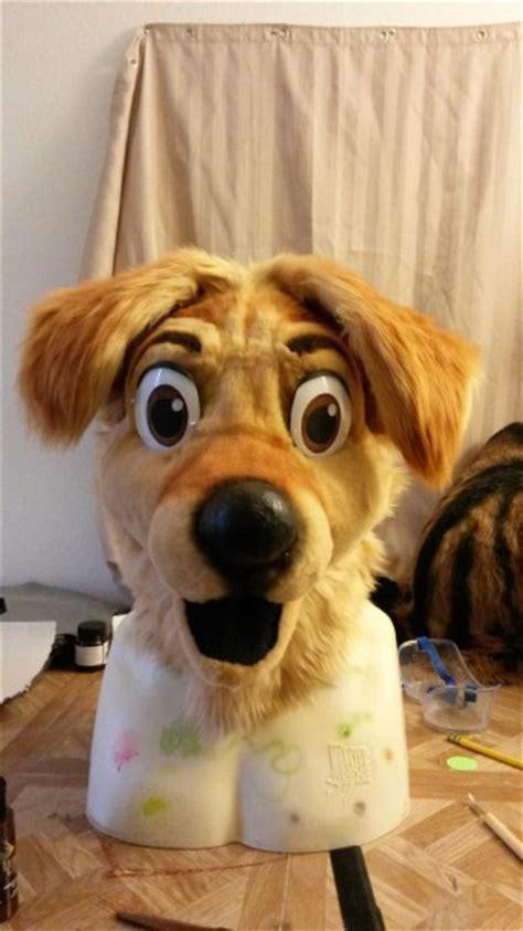 golden retriever eyebrows how do you make those animal costumes fursuits