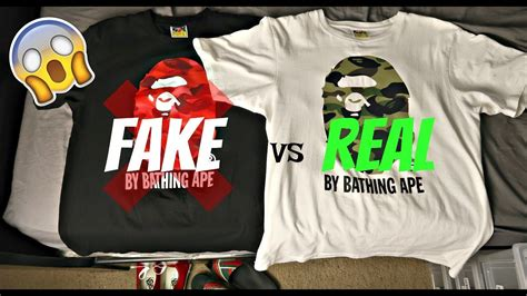 vs real bape shirt comparison best comparsion yet