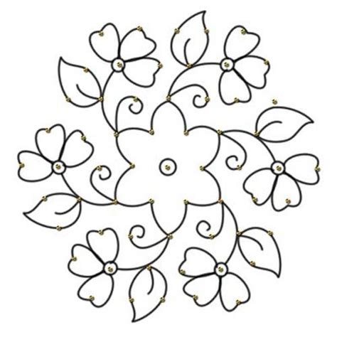 printable instructions for drawing flowers 20 best rangoli designs with dots for diwali 2015