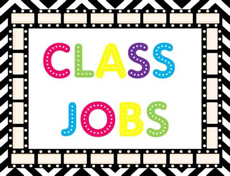 printable job labels classroom jobs clipart cliparts co