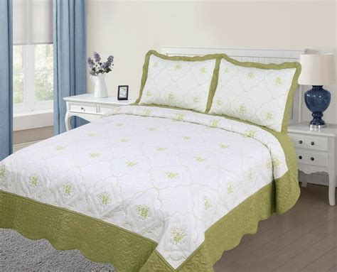 Bedspreads Coverlets by 3pc Quilted Bedspread Cover Oversized High Quality