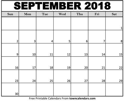 september 2018 calendar printable september 2018 calendar towncalendars