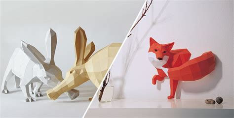 paper crafts animals paper craft animals paperwolf feel desain