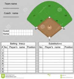 baseball lineup stock vector image 38904175