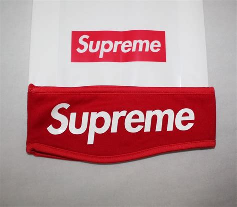 ebay supreme supreme streetwear hypebeast red fleece headband ebay