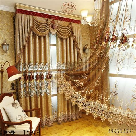gold curtains for bedroom european and american style royal gold luxury curtains for