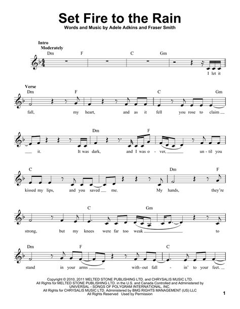 set fire to the rain by adele guitar chords lyrics adele set fire to the rain sheet music
