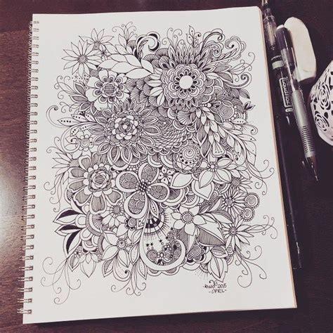 doodle zeichnen 302 besten zentangle doodling zeichnen malen dessins