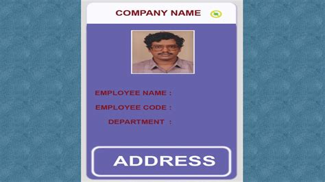 Employee Id Card Template Cdr by How To Create Id Card In Excel Idjet No 1 Id Card