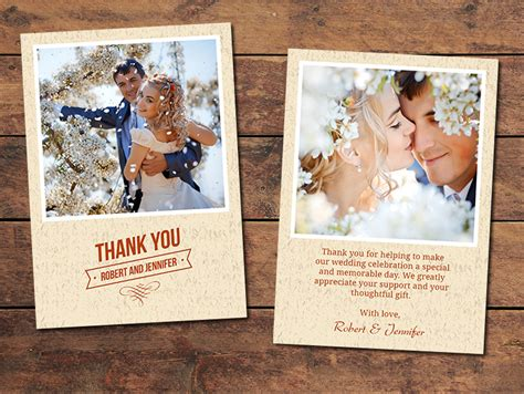 Thank You Cards Template Wedding Back by Print Templates Wedding Thank You Cards Textured Thank