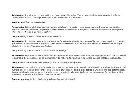 preguntas generales entrevista trabajo entrevista de trabajo