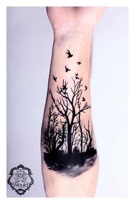 tatuaje de bosque tenebroso tatuajesxd