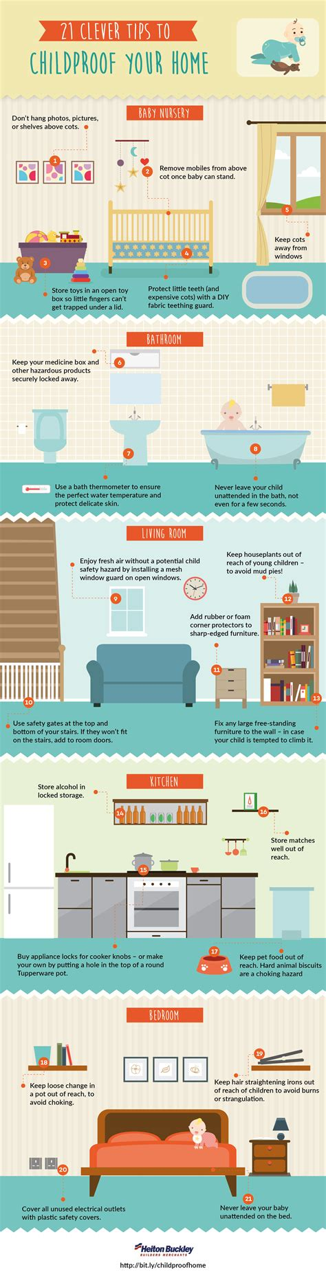 8 Tips To Childproof Your Home by 21 Clever Tips To Childproof Your Home Infographic