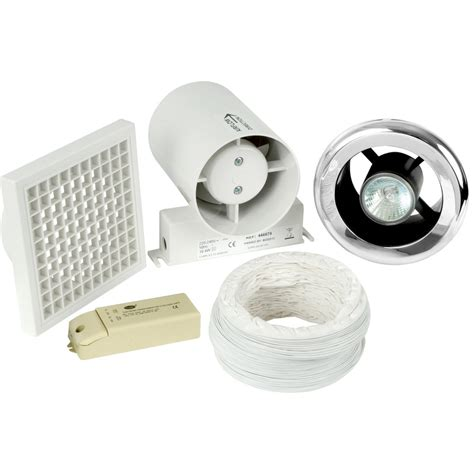 shower extractor fan with light 150mm part l inline shower extractor fan light kit with